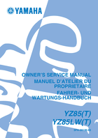 2005 yamaha yz85 owner s manual 508 pages pdf rh ownersmanuals2 com 2005 yz85 service manual YZ85 1999