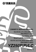 2002 yamaha yz250f owner s manual 666 pages pdf rh ownersmanuals2 com 2001 yamaha yz250f service manual pdf 2002 yamaha yz250 owners manual