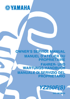 2004 yamaha yz250f owner s manual 662 pages pdf rh ownersmanuals2 com 2004 yamaha yz250f owners manual 2014 YZ250F