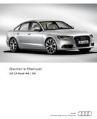 audi a6 2013 manual