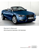2014 audi a5 cabriolet s5 cabriolet owner s manual 286 pages pdf rh ownersmanuals2 com audi a5 cabriolet owners manual pdf 2011 audi a5 cabriolet owners manual