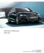 2017 audi a3 sedan s3 sedan owner s manual 400 pages pdf rh ownersmanuals2 com audi a3 saloon owners manual pdf A3 Saloon Monsoon