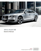 download 2012 audi a8 s8 owner s manual pdf 300 pages rh ownersmanuals2 com Audi Q7 Audi A5