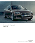 2018 Audi A4 S4 Owner S Manual 403 Pages Pdf