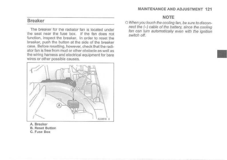 2007 kawasaki mule 3010 4x4 — owner's manual – page #123