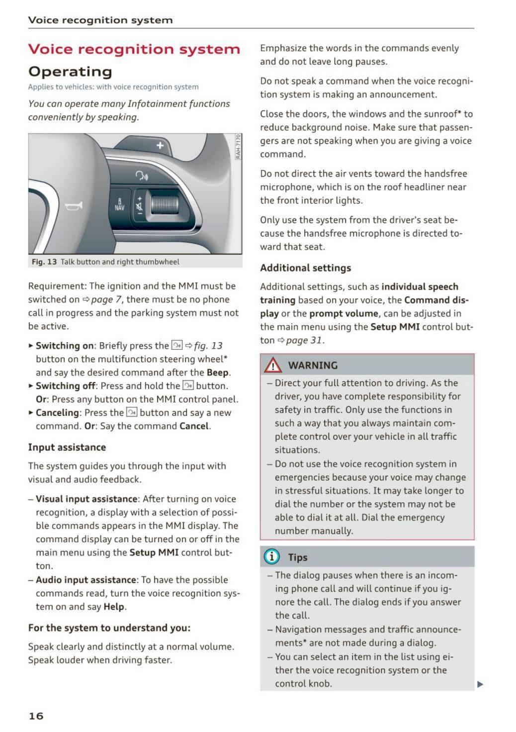 2015 Audi Q5 / SQ5 – MMI Navigation plus – Page #18 – PDF Manual