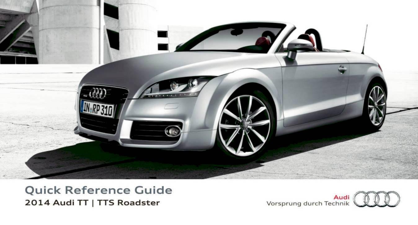 2014 audi tt tts roadster quick reference guide 16 pages pdf rh ownersmanuals2 com 2011 Audi TT Owner's Manual 2015 Audi TT Manual Transmission