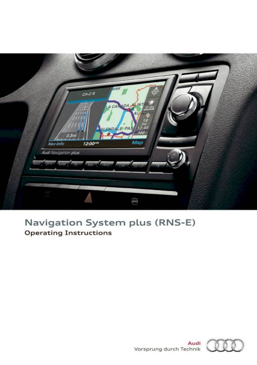2014 audi tt tts roadster navigation system plus rns e 84 rh ownersmanuals2 com audi navigation plus rns-e manual pdf