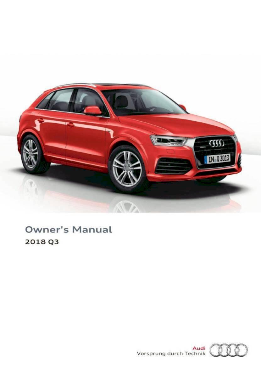 2018 Audi Q3 Owner S Manual 230 Pages Pdf