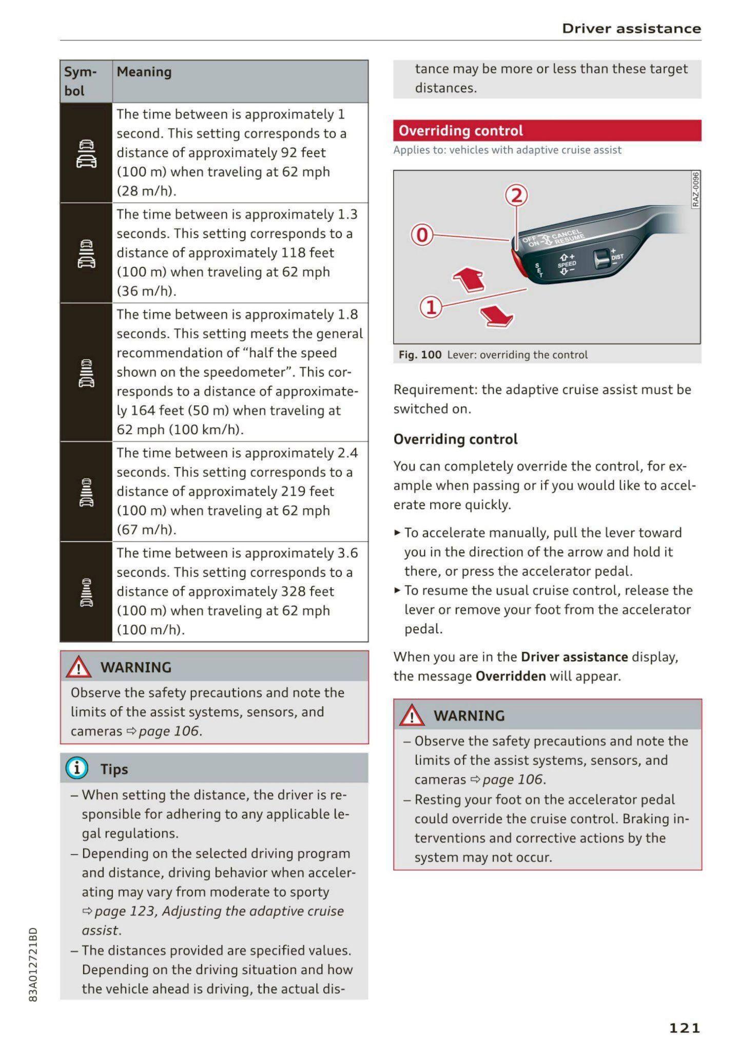 2021 Audi Q3 - Owner's Manual - Page #123 - PDF