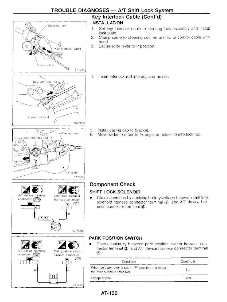 1997 Nissan Pathfinder – Repair Manual - Automatic