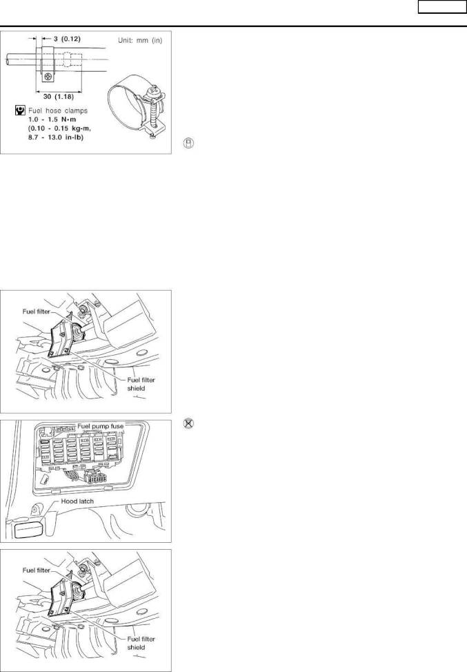 2002 Nissan Frontier Repair Manual Maintenance Section Ma 7 3 Fuel Filter Assembly Ama123 Changing