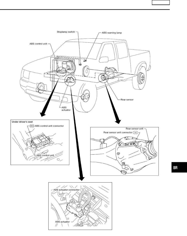 2002 Nissan Frontier Repair Manual Brake System Section Br Page 45 Pdf