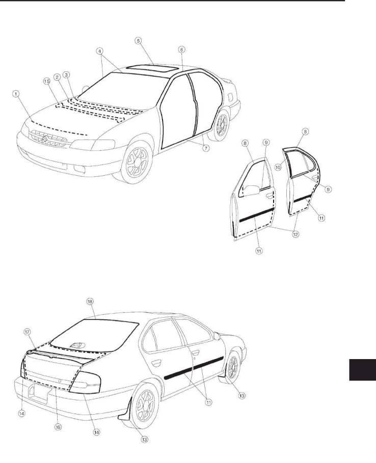 2000 Nissan Altima Repair Manual Body Trim Section Bt Page 27 Pdf