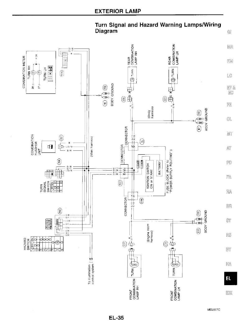 1995 Nissan 300zx Repair Manual Electrical System Section El Page 35 Pdf