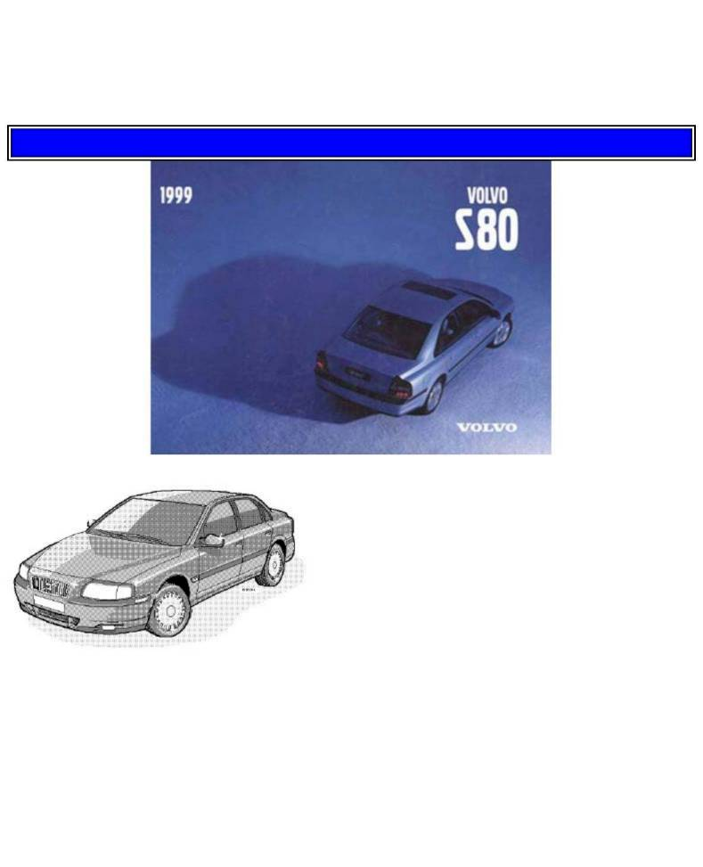 1999 volvo s80 owner s manual 96 pages pdf rh ownersmanuals2 com 1999 Volvo S80 Turbo 1999 Volvo S80 Interior