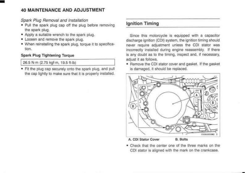 2003 Kawasaki KX125 – Owner's Manual – Page #42 – PDF