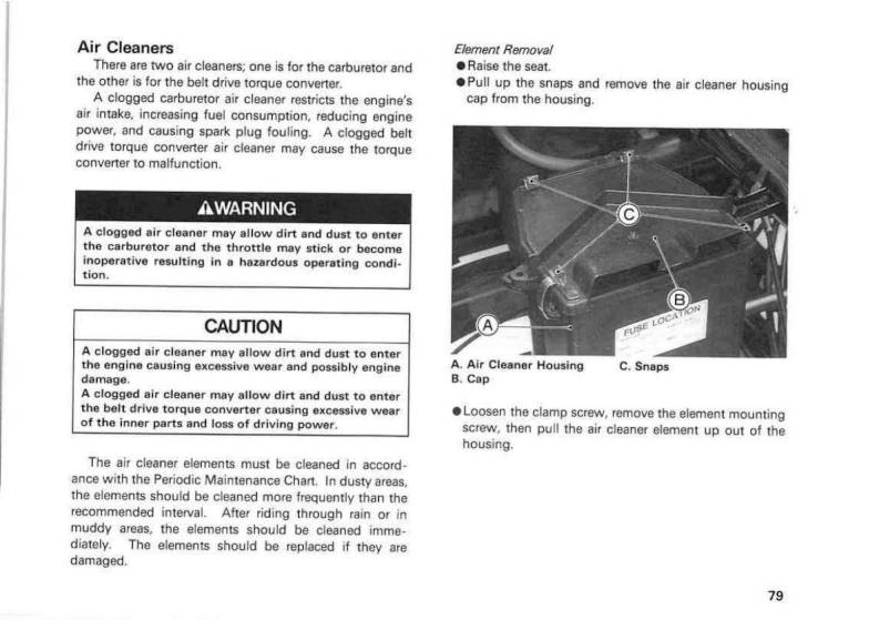 1999 Kawasaki Mule 2500 – Owner's Manual – Page #81 – PDF