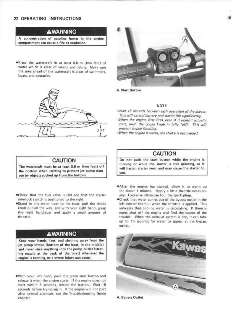 1994 kawasaki jet ski 550 sx owner s manual page 24 pdf rh ownersmanuals2  com Kawasaki 650Sx