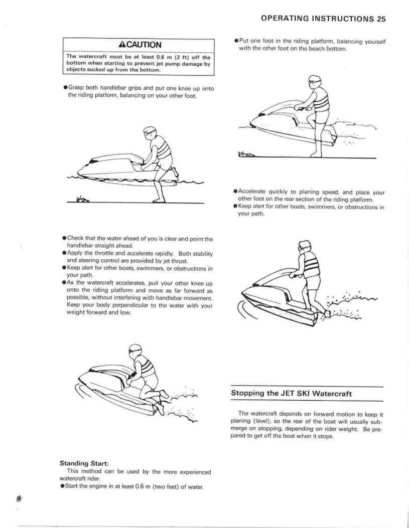 1992 Kawasaki Jet Ski 750 SX – Owner's Manual – Page #27 – PDF