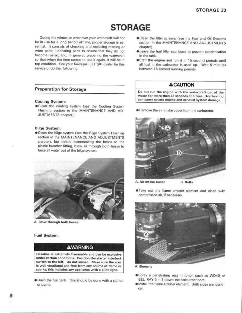 1992 Kawasaki Jet Ski 750 SX – Owner's Manual – Page #35 – PDF