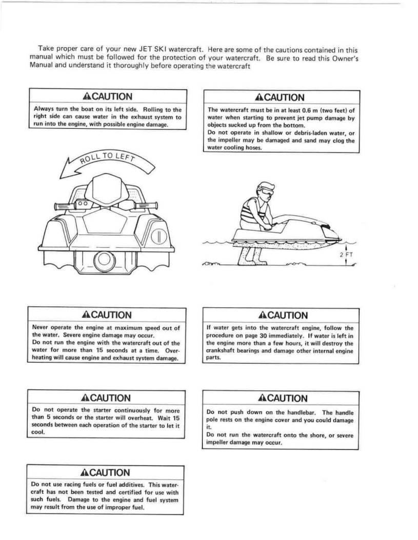 1990 Kawasaki Jet Ski 650 SX – Owner's Manual – Page #4 – PDF