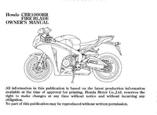 Honda cbr 1000 manual array 2007 honda cbr1000rr u2013 owner u0027s manual u2013 page 5 u2013 pdf rh ownersmanuals2 fandeluxe Gallery